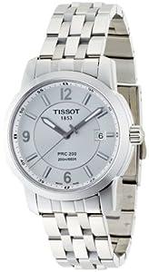 Tissot PRC 200 T0144101103700 - Reloj de caballero de cuarzo, correa de acero inoxidable color gris