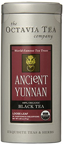 Octavia Tea Ancient Yunnan (Organic Black Tea), 1.98-Ounce Tin