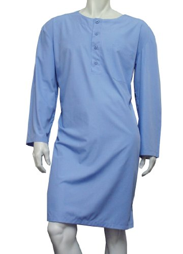 Men's Nightshirt (MNC15)- Plain Sky Blue by The Best Nightshirt Co
