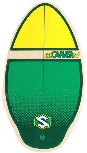 Skim One The Carver - Tavola da skimboard in legno, verde (Verde/Giallo), 90cm
