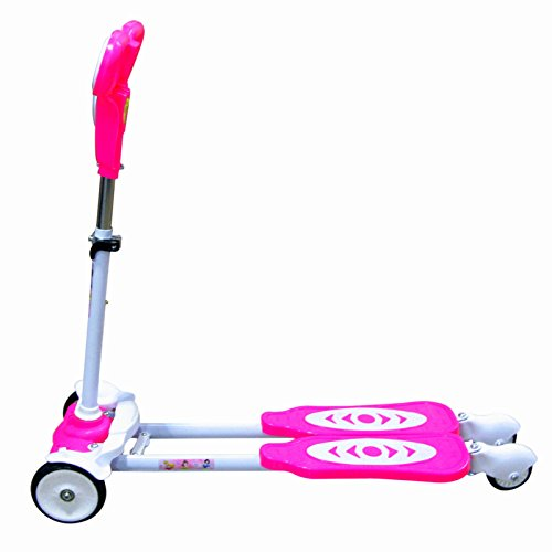 Banyan Frog Motion Tricycle/Scissor Kick Scooter for Kids, Four-wheeled, Pink