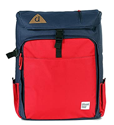 """Düssel Laptop """"Duke"""" Backpack for Aircraft Cabin / Hand Luggage for Easyjet Ryanair for up to 17"""" Laptops Cabinmax 55 X 40 X 20 cm [RED/BLUE]"""