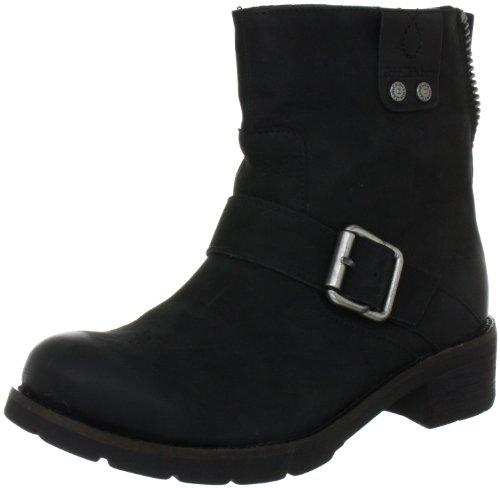 Calvin Klein Jeans Hadley Oiled Nubuck Womens Ankle Boots Black 9 UK, 41 EU