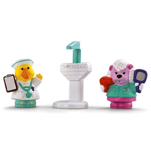 Fisher Price Little People Animalville Hairdresser Poodle and Nurse Goose - 1