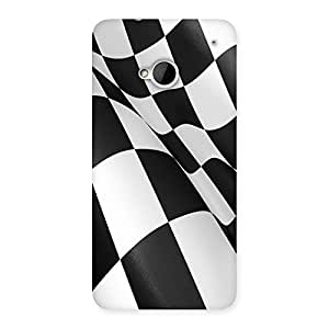 Unicovers BW Flag Back Case Cover for HTC One M7