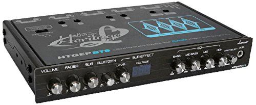 Lanzar Htgepbt9 Heritage Series 4-Band Eq Parametric Equalizer With Bluetooth Wireless Audio Connectivity