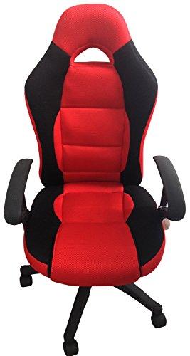 ROT SCHWARZ Drehstuhl Bürostuhl Chefsessel Schreibtischstuhl Racing Sportlich Markenware von COLLANI