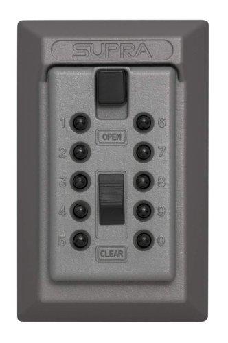 Kidde Accesspoint 001015 Keysafe Original 5-Key Permanent, Pushbutton, Titanium Gray