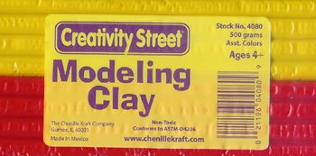 Exruded Modeling Clay 6 Asstd Clrs -- Case of 10