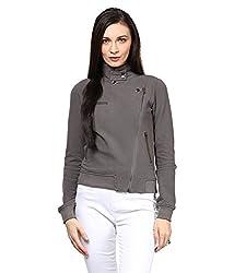 Hypernation Grey Color Side Zipper Cotton Jacket
