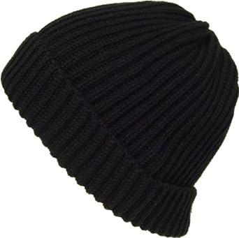 1d41d92de4c Alki i Premium Cuffed thick mens womens warm beanie snowboarding winter hats  - Black