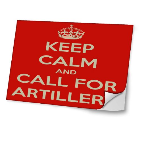 """Keep Calm"" 10053, Keep Calm And Call For Artillery, 13.3"" Laminierte Laptop Aufkleber."