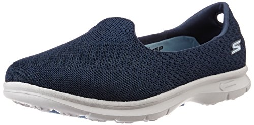 Skechers Performance Women's Go Step Elated Walking Shoe, Navy/Gray, 7.5 M US