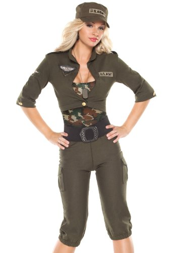 Coquette Sexy Womens Army Military Cadet Halloween Costume