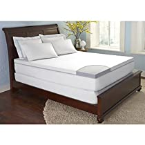 "Hot Sale ComforZen 4"" Gel Memory Foam Queen Mattress Topper"