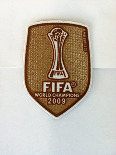 BARCELOBA FIFA CLUB WORLD CHAMPION 2009 MESSI,INIESTA,VILLA PATCH,BADGE,PARCHE (Fifa World Champions Patch compare prices)
