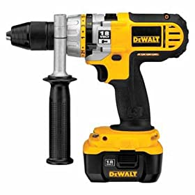 DEWALT DC927KL 18-Volt 1/2-inch Lithium Ion 18V Cordless Hammerdrill/Drill/Driver with NANO Technology