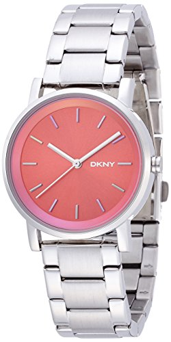 DKNY NY2267 Red Dial Stainless Steel Ladies Watch