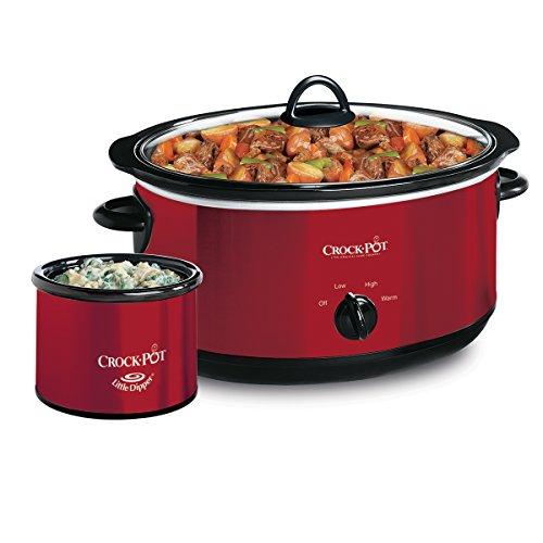 crockpot scv653 r manual slow cooker with little dipper warmer 6 5 quart red ebay. Black Bedroom Furniture Sets. Home Design Ideas