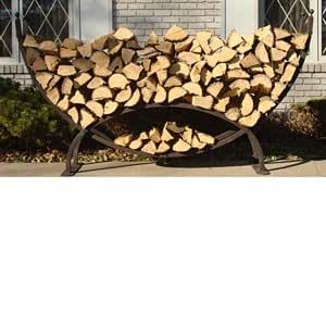 Amazon Crescent Firewood Rack W Cover Outdoor