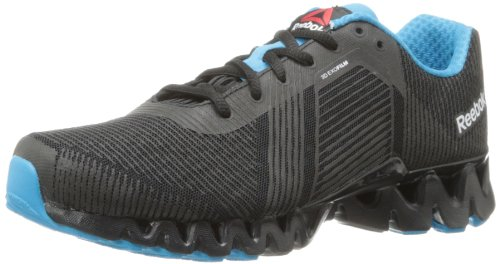 Reebok Women's Zigtech 3.0 Energy Running Shoe,Black/Blue Bomb/White,7.5 M US