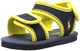 Ralph Lauren Layette Rip Tide Aqua Shoe (Infant/Toddler), Navy/Yellow, 2 M US Infant