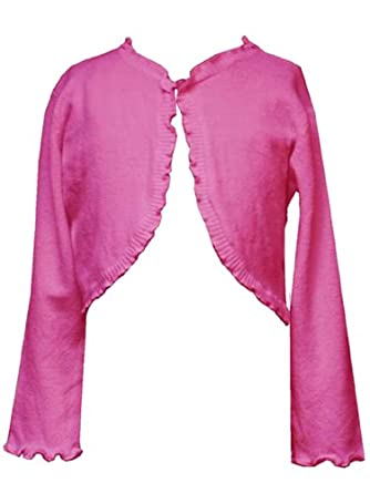 a8a3816a6 Rare Editions Little Girls 4 6X FUCHSIA PINK KNIT RUFFLE BOLERO  Sweater/Shrug/Jacket on PopScreen