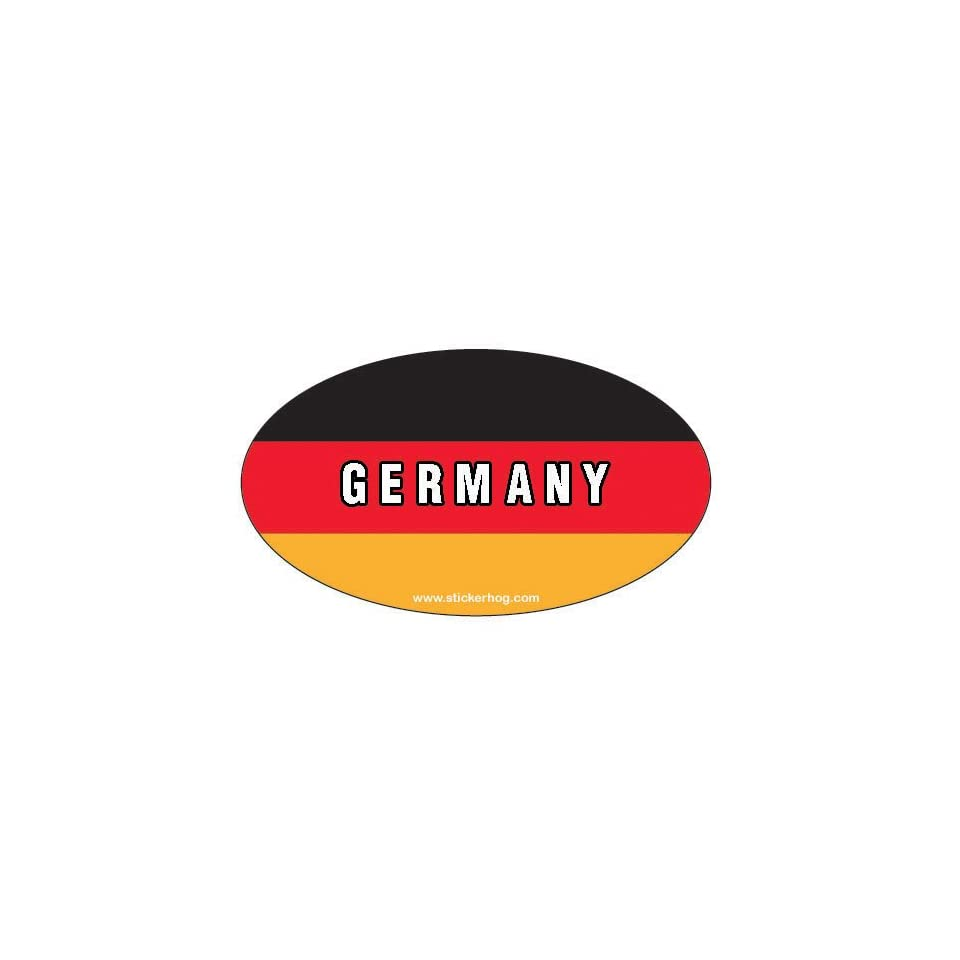 Germany Country Flag Euro Oval bumper sticker decal   GERMAN FLAG