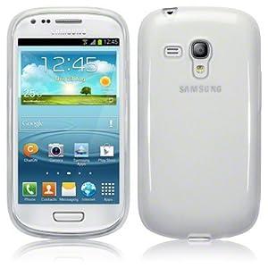 Coque Gel transparent Blanc pour Samsung Galaxy Trend s7560 + 3 Films OFFERTS !!
