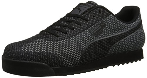 puma-mens-roma-woven-mesh-lace-up-fashion-sneaker-black-steel-gray-10-m-us