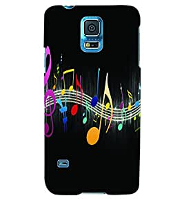 ColourCraft Music Wallpaper Back Case Cover for SAMSUNG GALAXY S5 NEO