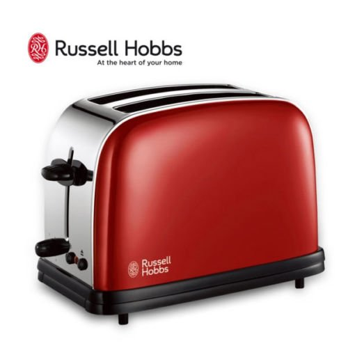 Russell Hobbs RH-18951 Toaster 6 Step Toast Defrost Crumb Tray / RED (Russell Hobbs Toaster Red compare prices)