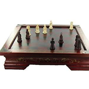 table de jeu d 39 echecs style coffret chinois antique. Black Bedroom Furniture Sets. Home Design Ideas