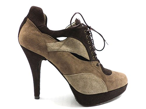 scarpe donna STUART WEITZMAN 35 EU stivaletti marrone camoscio AZ958