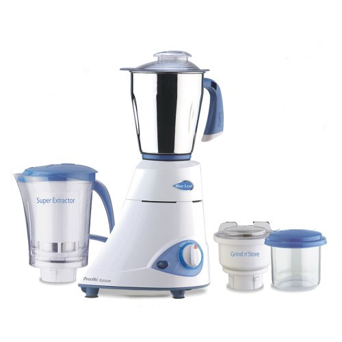 Preethi Blue Leaf Platinum Mixer 110 Volts - 3 Jars / Preethi Mixie / Preethi Blender / Preethi Juicer