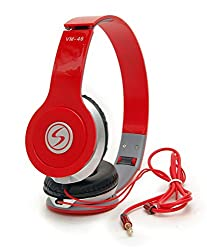 Oneplus 3 Compatible Signature Brand High Quality VM-46 Stereo Bass Solo Headphones For Iphone,Samsung, Redmi and All Other Smartphones (Red Color)