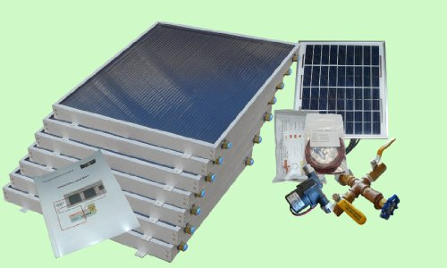 Complete 7 Panel Ez-Connect Hybrid Solar Water Heater Kit