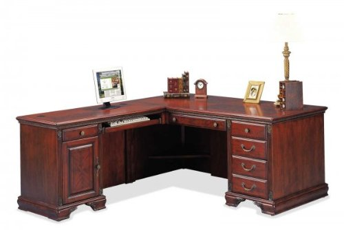 Buy Low Price Comfortable Nottingham Desk with Left Computer Return (Cherry) (68″W X 30″H X 32″D) (B003K42TOS)