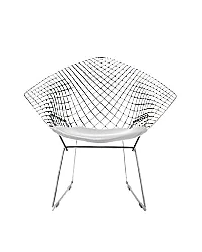 Manhattan Living Wire Diamond Chair, White