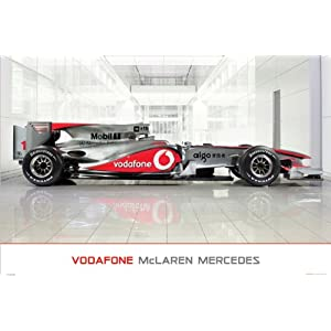413%2BRXOvPbL. SL500 AA300  McLaren Mercedes (MP4 25 Showroom) Formula One F1 Art Poster Print   24x36