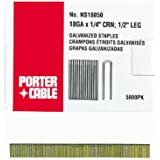 PORTER-CABLE PNS18100 18-Gauge 1/4-Inch Crown Galvanized Staples, 5000-Pack