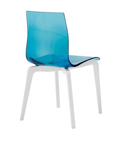 Domitalia Gel-L Chair, Transparent Blue/White