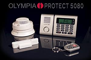 alarmanlagen online shop olympia protect 5080 funk alarmanlagen set mit notruffunktion best preis. Black Bedroom Furniture Sets. Home Design Ideas