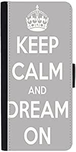 Snoogg Keep Calm And Dream On Designer Protective Phone Flip Case Cover For Apple Iphone 5 / 5S