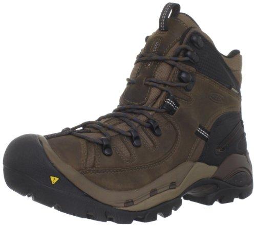 KEEN Men's Oregon PCT Waterproof Hiking Boot,Dark Earth/Midnight Navy,7.5 M US
