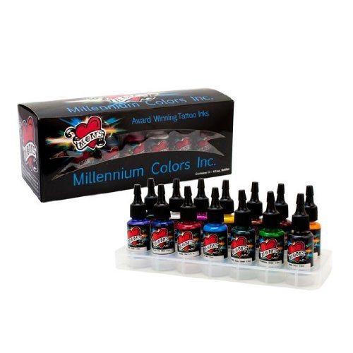 Brand new 14 millennium moms primary 1 tattoo ink 1 2 set for Millennium colorworks tattoo ink