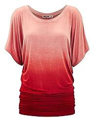 LL Womens Short Sleeve Oversized Ombr…