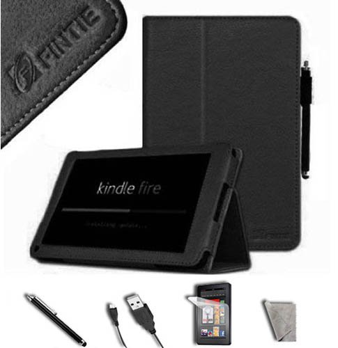 FINTIE Black PU Leather Folio Case Cover Value
