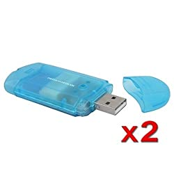 eForCity USB 2.0 Memory Stick Pro / Pro Duo Card Reader 2 Pack