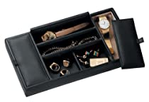 Hot Sale Royce Leather Mens Valet Tray - Black